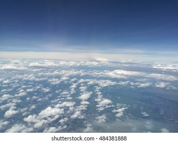 panorama cloudscape taken from airplane