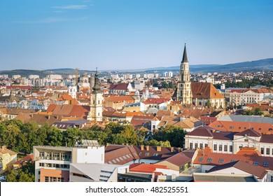 Panorama of Cluj Napoca, Transylvania, Romania