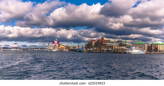 Panorama of the coast of Gothenburg, Sweden