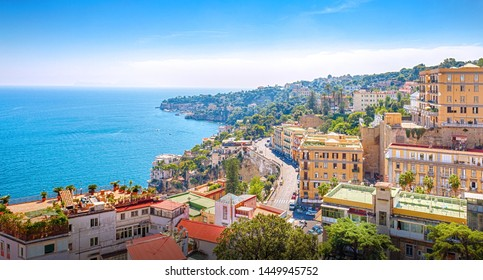 Panorama of the coast of Naples. Naples. Campaign. Italy.