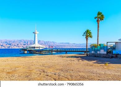 Panorama of a coast near Eilat, Israel