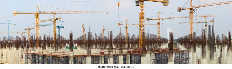 Panorama of Construction site