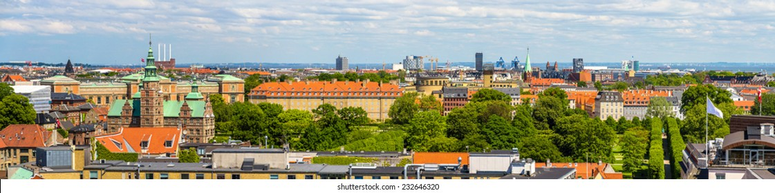 Panorama of Copenhagen from The Round Tower