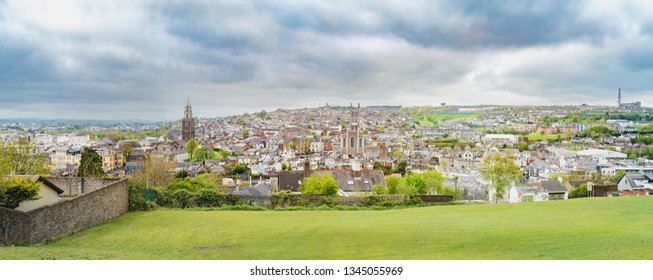 Panorama of Cork city in the spring. Ireland.