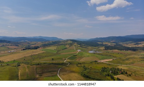 panorama of countryside aerial view