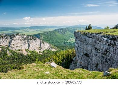 Panorama from Creux du van, Neuchatel, Switzerland