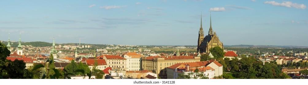 Panorama of czech city Brno