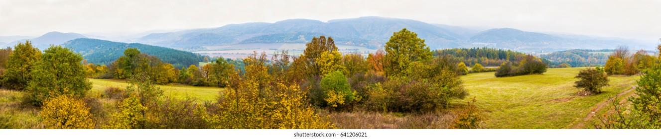 Panorama of czech landscape, Dolni Loucky, Brno-Country District in the South Moravian Region, Czech Republic - Shutterstock ID 641206021