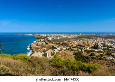 Panorama of Dakar, Senegal