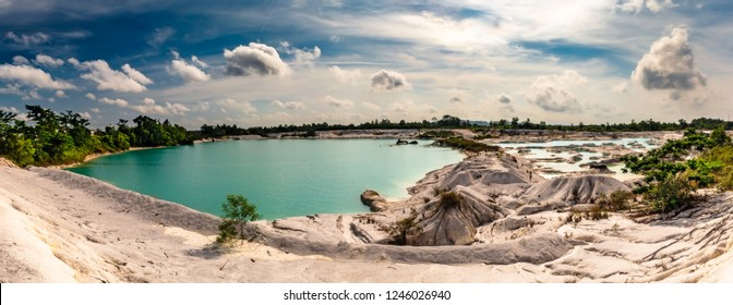 Panorama of Danau Kaolin from the island of Belitung