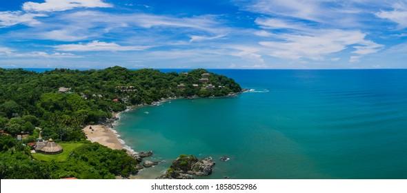 Panorama de la playa de Sayulita, Nayarit México