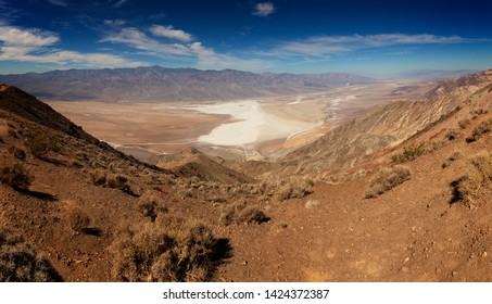 Panorama of Death Valley National Park from Dante's View.