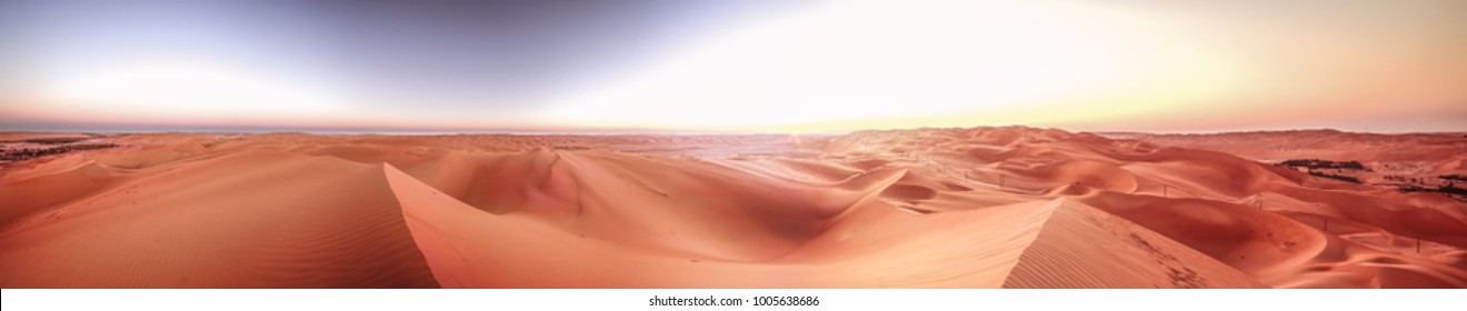 Panorama, Desert Rub' al Khali, Emirates, Abu Dhabi, Liwa, Jan.2018