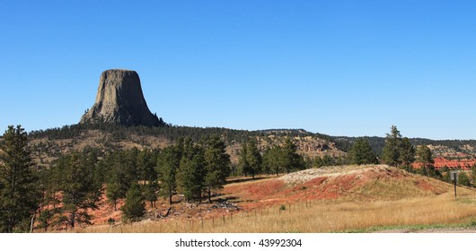 panorama of the Devils Tower National Monument, Wyoming