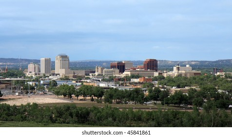Panorama of downtown Colorado, Springs, CO. Picture taken from the south-side of downtown looking north