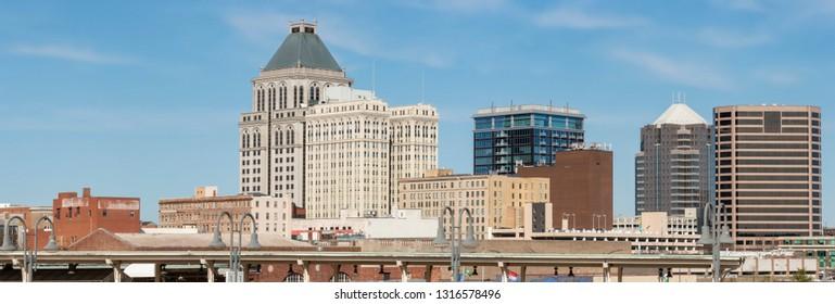 Panorama of downtown Greensboro, NC