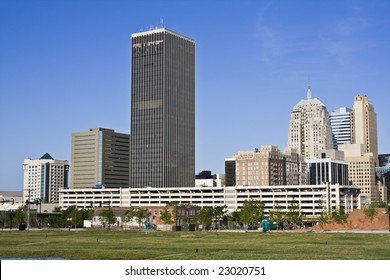 Panorama of downtown Oklahoma City