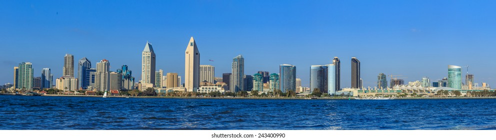 Panorama of Downtown of San Diego, California, USA
