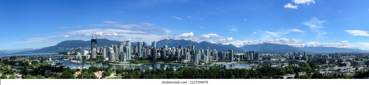 Panorama of downtown Vancouver, BC, Canada