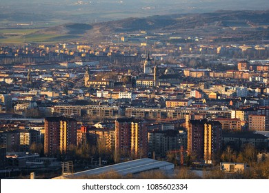 Panorama of the downtown of Vitoria-Gasteiz, Spain