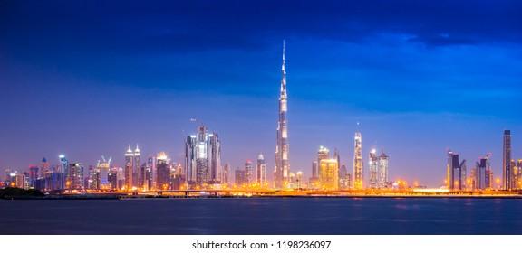 Panorama of Dubai, UAE