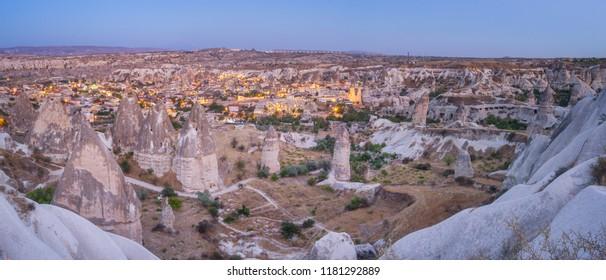 Panorama of Göreme at Dusk, Turkey