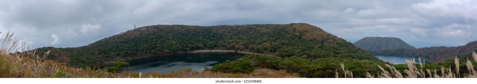 Panorama of Ebino Plateau Kagoshima Japan