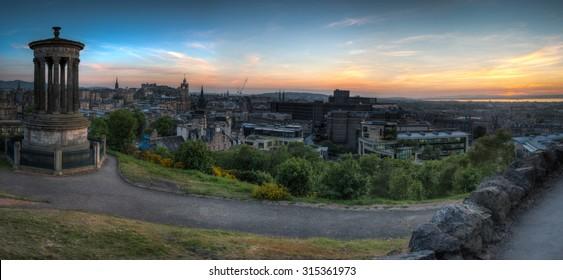 Panorama of Edinburgh from Calton Hill