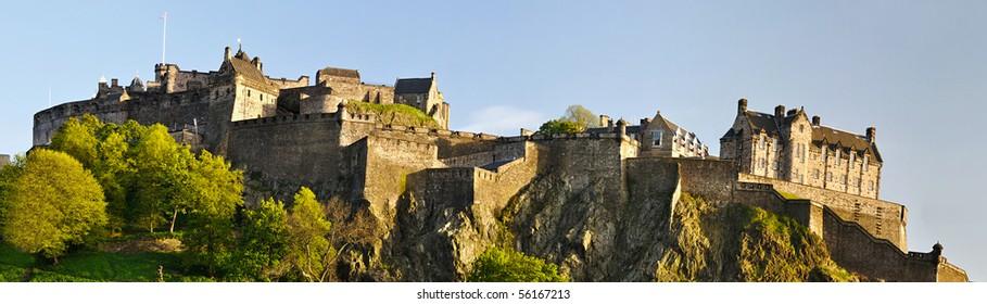 Panorama of Edinburgh castle, Scotland