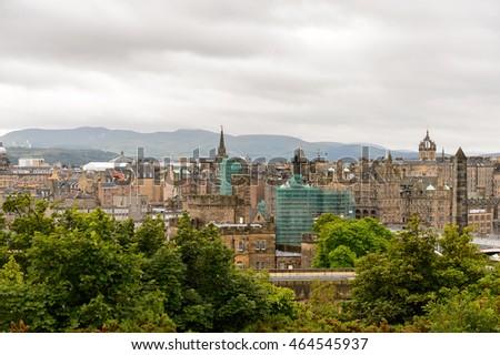 Panorama Edinburgh Scotland Old Town New Stock Photo Edit