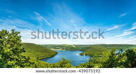 Panorama of the Eifel in Germany