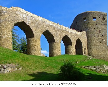panorama of europen gothic castle