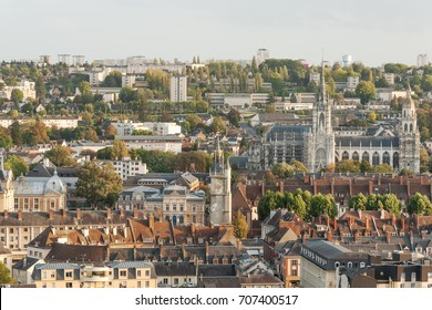 Panorama of Evreux, capital of Eure department, France
