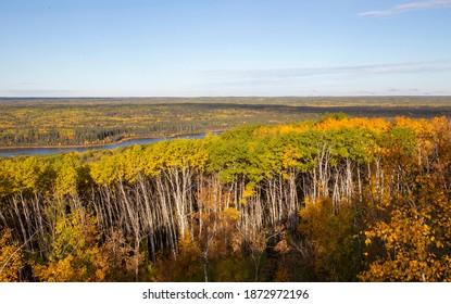 Panorama Fall Colors Prince Albert Natoinal Park