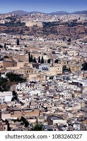 Panorama of Fes in a sunny day of August. Morocco, North Africa
