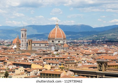 Panorama of Florence - view from Michelangelo square.