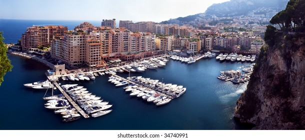 Panorama of Fontvieille district of Monaco