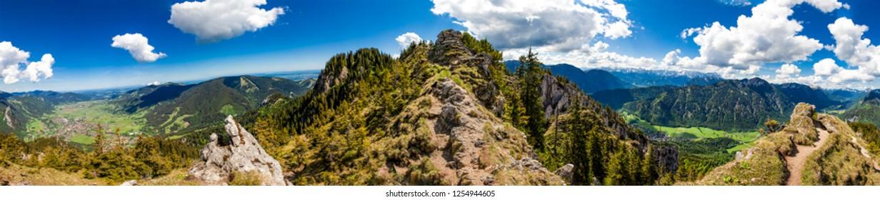 Panorama - Footpath - Laber - Oberammergau - Bavaria  Germany