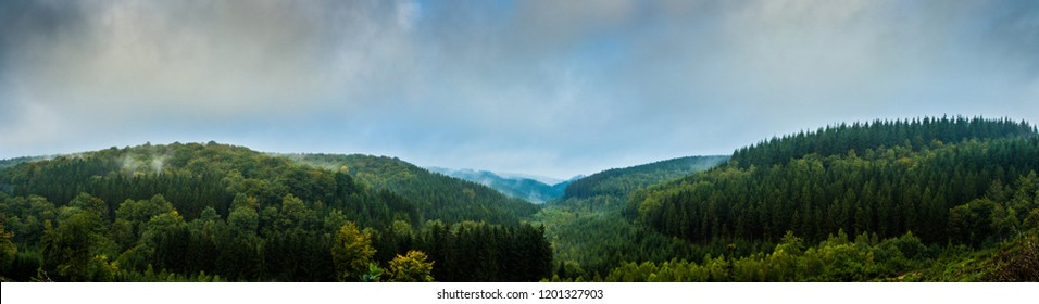 panorama forest ardennes