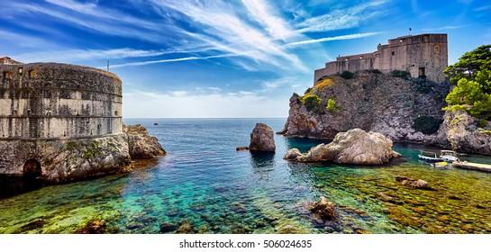The Panorama Fort of St. Lawrence (Fort Lovrjenac) in Dubrovnik, Croatia