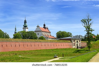 Panorama of the fortified town of Zamosc, Poland.