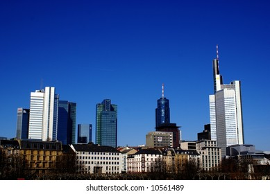 A panorama of Frankfurt commercial center