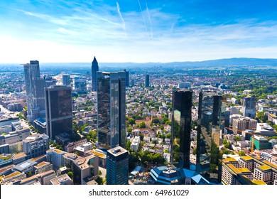 Panorama of Frankfurt am Main, Germany.