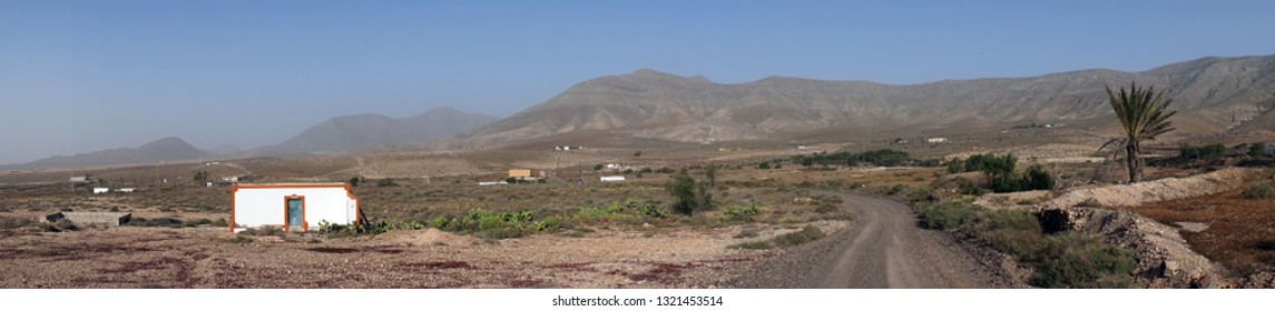 Panorama of Fuerteventura island, Spain