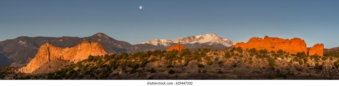 Panorama of Garden of the Gods Colorado Springs, CO