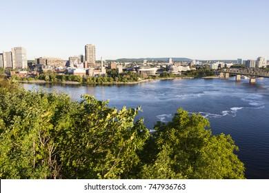 Panorama of Gatineau seen from Ottawa. Panorama of Gatineau, Ontario, Canada.
