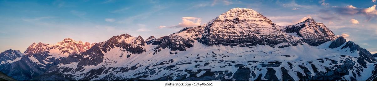 Panorama of Gavarnie at Sunrise - French Pyrénées