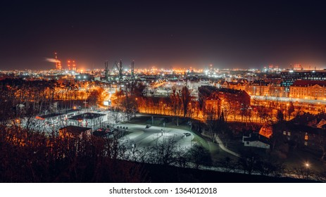 Panorama of Gdansk view from Gradowa Mountain