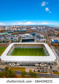 panorama of Gdynia with a view of the football stadium