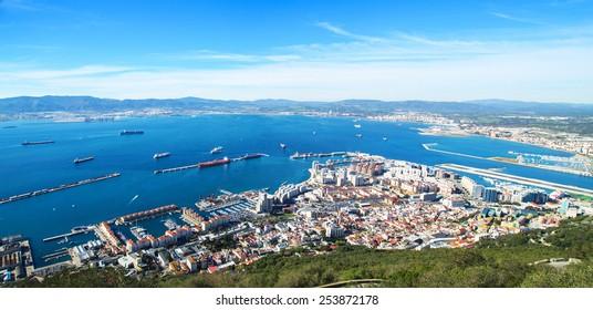 A panorama of Gibraltar